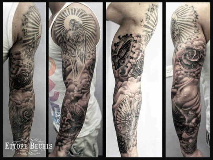 ettore-bechis-tattoo-004-gray-rose-scale-sleeve